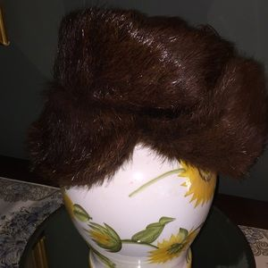 Other - Fur hunting/bomber hat, size small